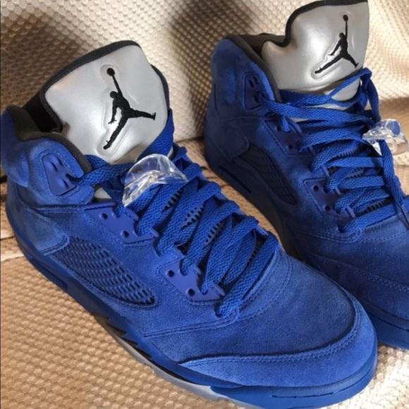 quality design 5b9d9 79259 Nike Air Jordan 5 Retro Suede Royal Blue   Black